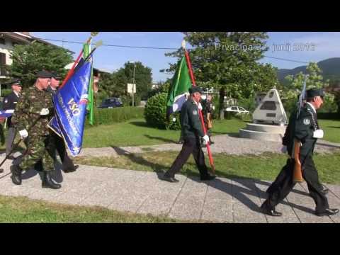 Dvigovanje slovenske zastave junij 2016