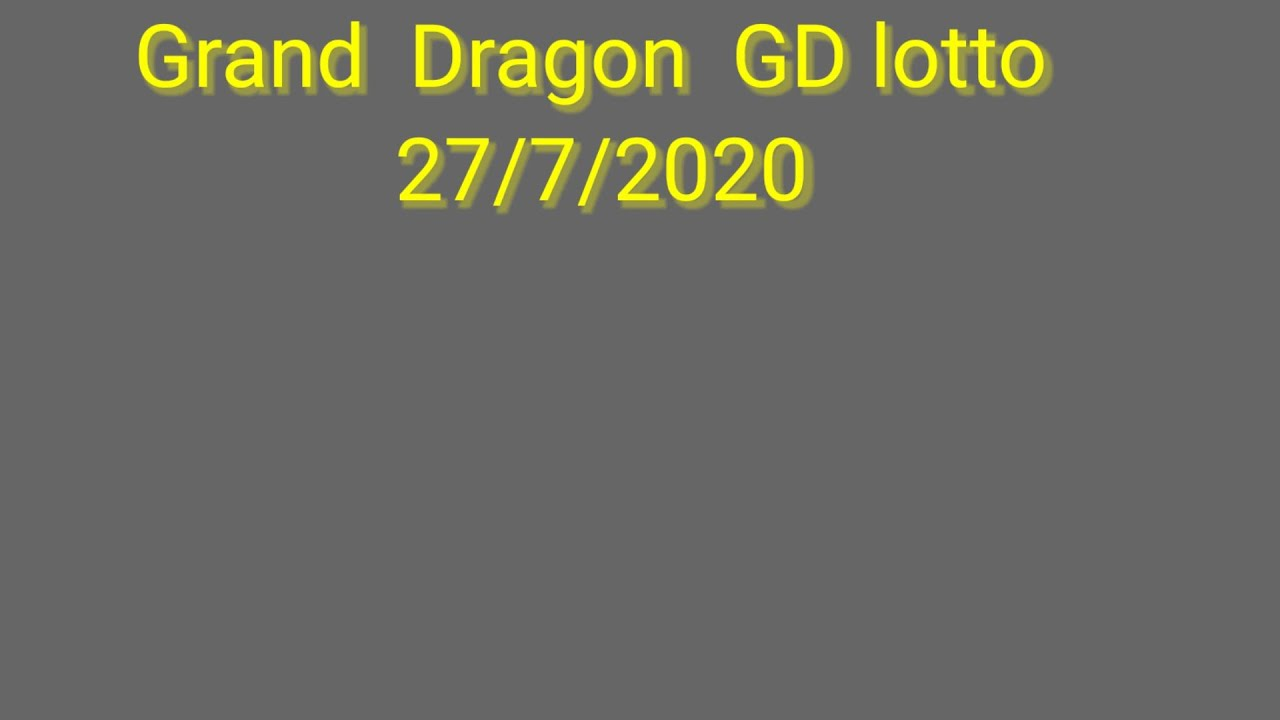 gd lotto 27-7-2020
