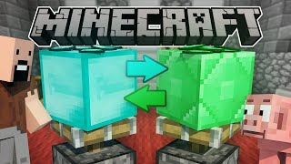 If Diamonds And Emeralds Switched Places - Minecraft