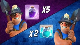 Miner Tournament #2: Rage vs Clone Spell Clan | Epic Mass Miner Attacks | Clash of Clans