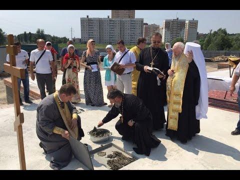 Митрополит Никон совершил освящение закладного камня на Манеже