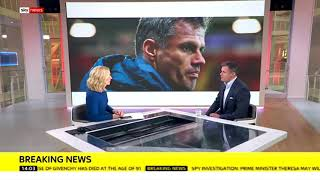 Jamie Carragher spits on manchester united fans