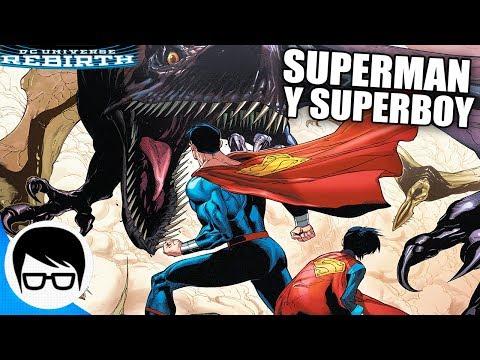 SUPERMAN Y SUPERBOY VS DINOSAURIOS   Superman Rebirth #8-9   COMIC NARRADO