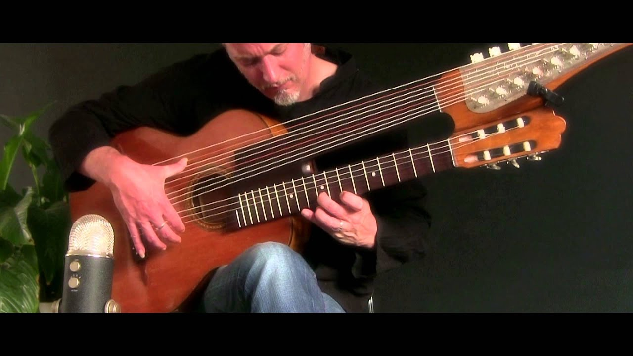 Brin Addison - Beethoven's Moonlight Sonata 15 string Harp Guitar