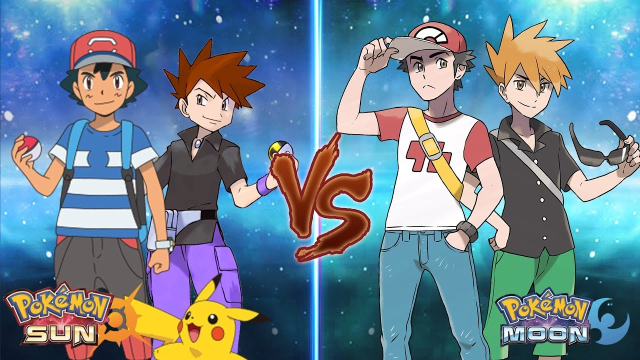 red vs blue sun and moon - photo #6