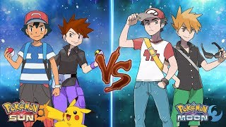 Pokemon Sun and Moon: Ash and Gary Vs Red and Blue