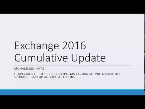Installing Cumulative Updates on Exchange Server 2016 - YouTube