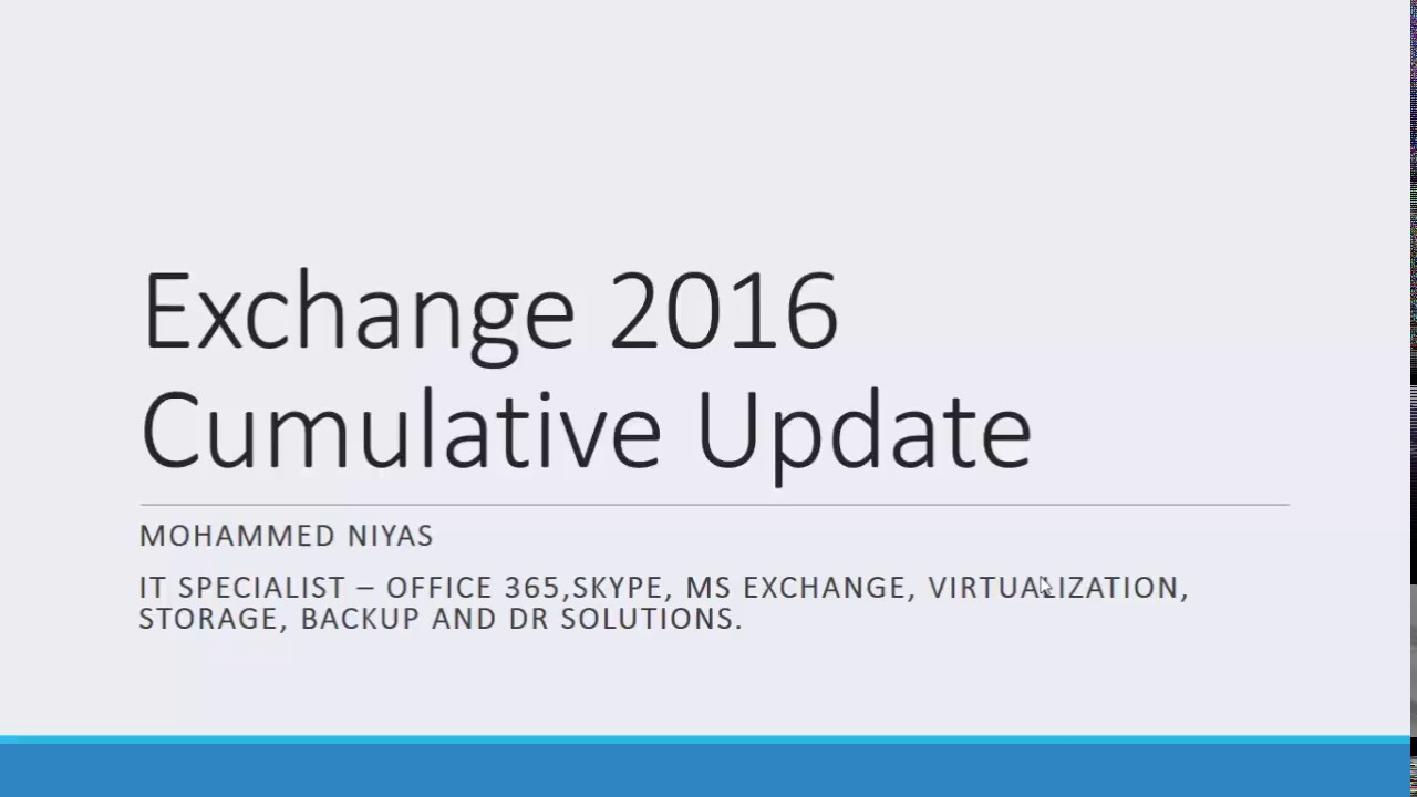 Installing Cumulative Updates on Exchange Server 2016