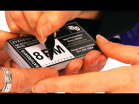 how to do amazing business card trick magic tricks - Amazing Business Cards