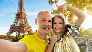 VLOG Dad's Birthday in Paris by Max and Katy