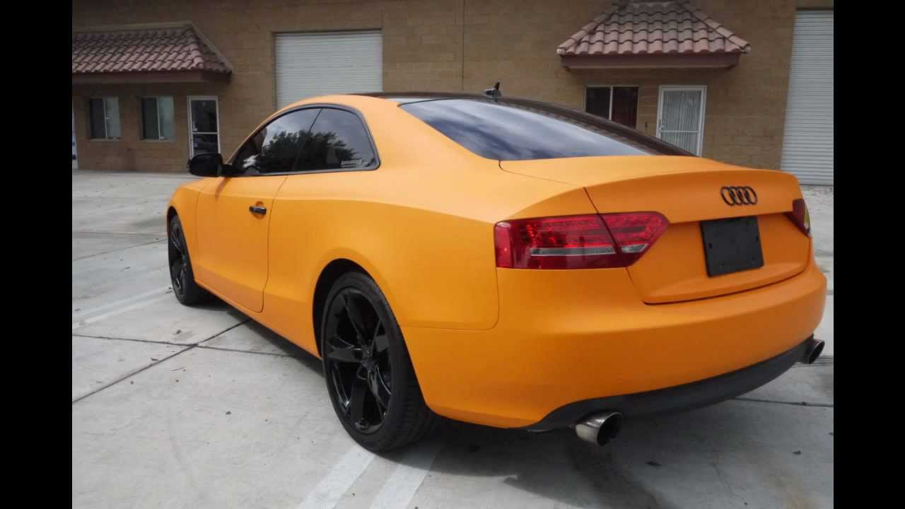 Matte Orange Audi A5 Wrap By Impressive Wrap 3m