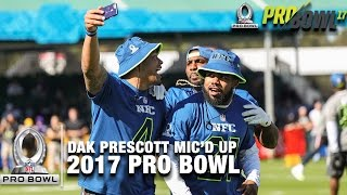 Dak Prescott Mic'd Up at the 2017 Pro Bowl Practice | NFL