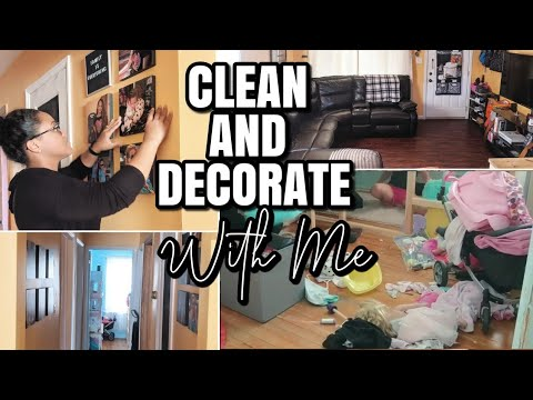 CLEAN AND DECORATE WITH ME | ACTUAL MESSY HOUSE // SPRUCING UP MY HALLWAY