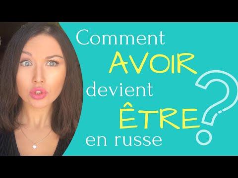"""Comment """"AVOIR"""" devient """"ETRE"""" en russe"""