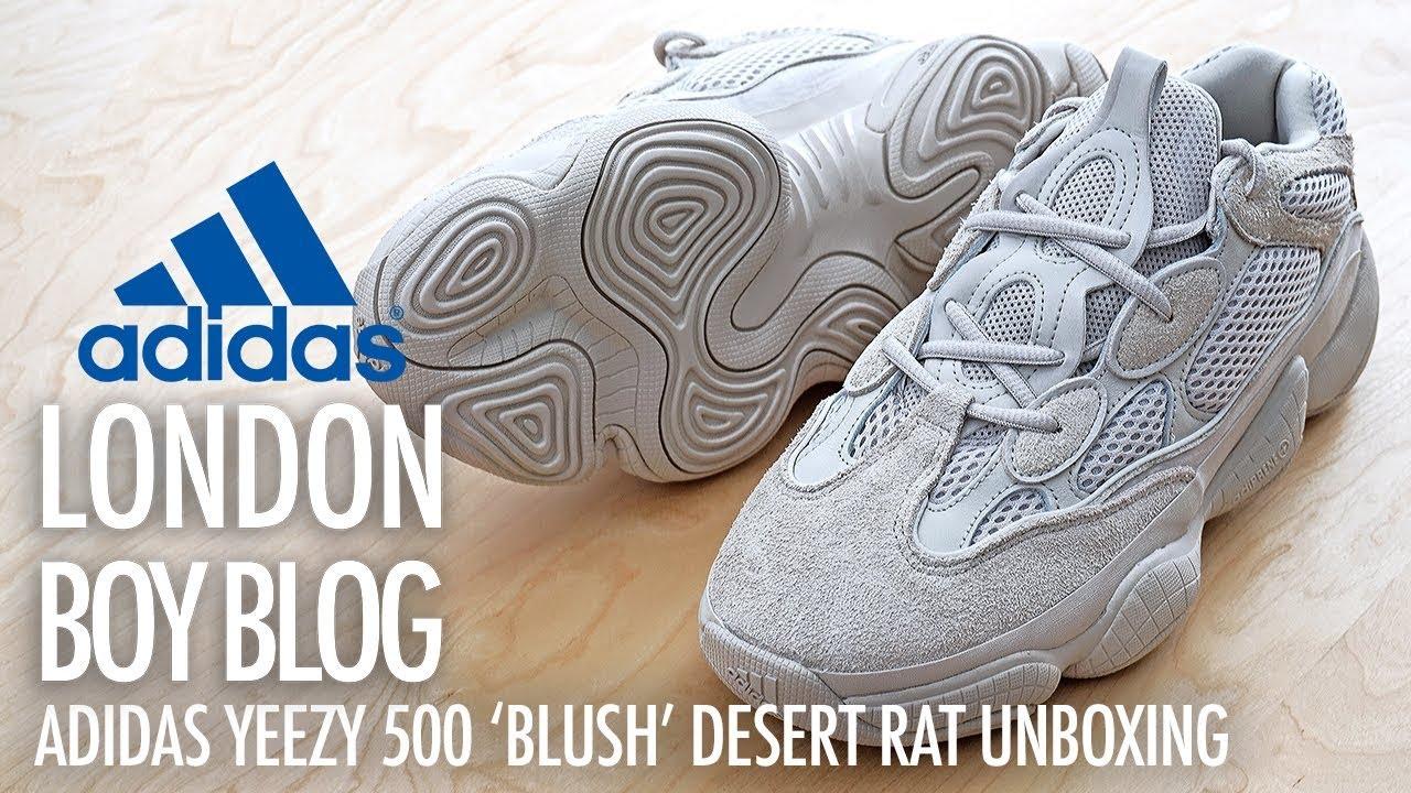 7d7c23055a89d6 Adidas YEEZY 500  Blush  Desert Rat Unboxing - YouTube