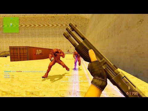 Counter Strike Source - Zombie Riot Mod Online Gameplay On Warzone Map