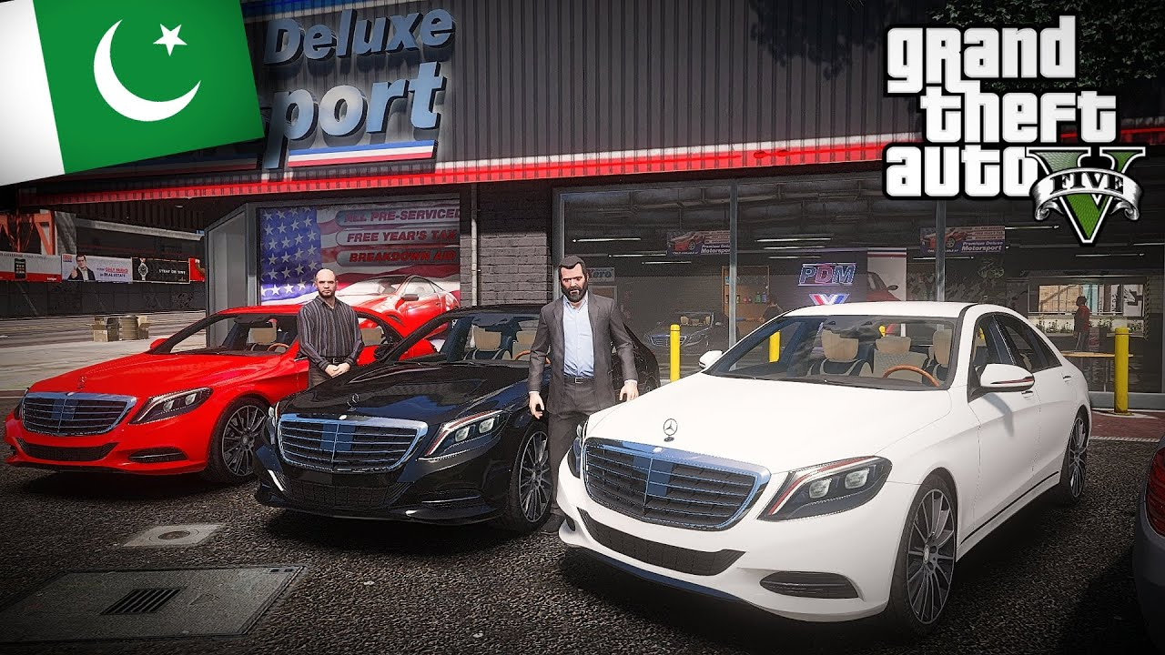GTA V Real Life Mods - Michael Buying New Mercedes Benz S500 Car from Simeon | GTA 5 Pakistan