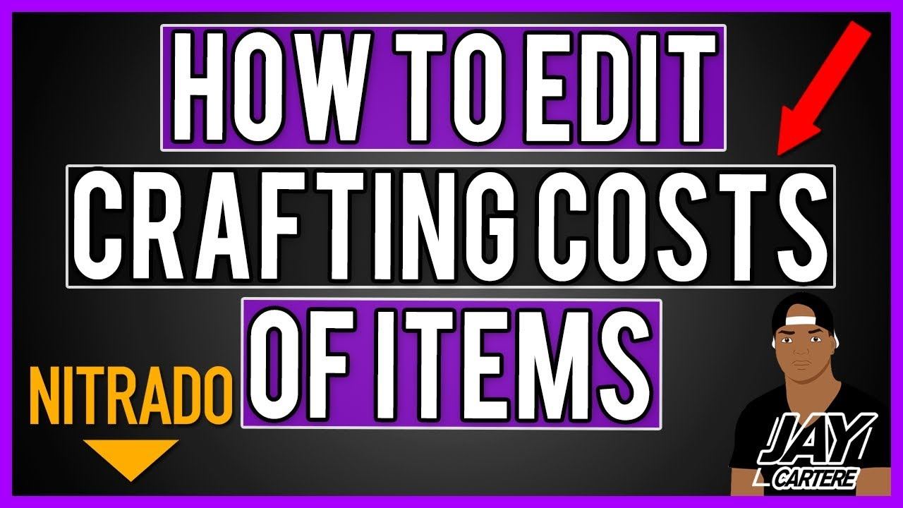 How To Edit Crafting Costs Of Items On Your Nitrado Server - ARK PS4 Server  Tutorial