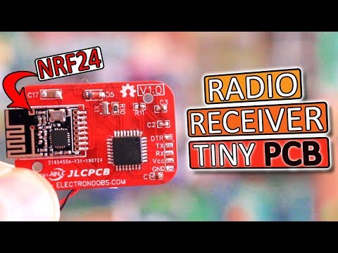 Small Radio Receiver Board | NRF24 + Arduino