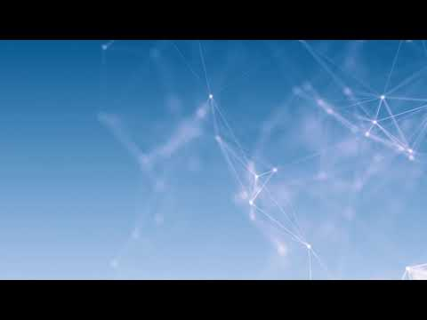 global digital network blue animation background