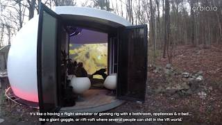 The Orbio   Dome Tiny House W/ Immersive Curved Video Wall: Gaming, High Fov Content, Action Video