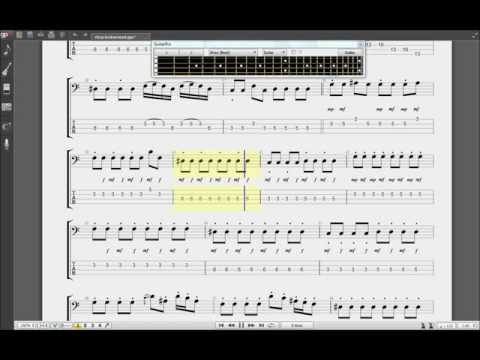 How to play BASS Guitar RHCP LOOK AROUND Free Tabs Guitar Pro 6 lesson