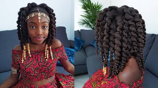 Brown Skin Girl Twistout- Hairstyle for Girls