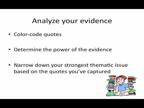 Writing a Literary Analysis Essay - YouTube