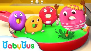 Five Little Donuts - Colors Song | Learn Colors, Learn Numbers | Nursery Rhymes | Kids Songs|BabyBus