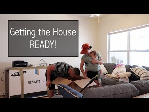 UNPACKING & ORGANIZING THE DOWNSTAIRS ! | MOVING VLOG
