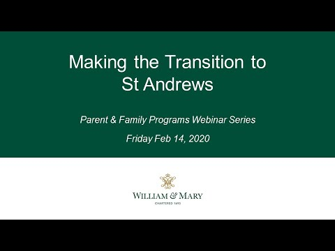 Making the Transition to St Andrews