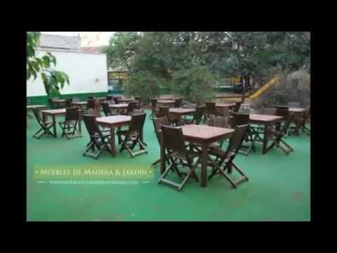 Mesas para restaurant muebles de madera y jard n com for Mesas de madera para jardin