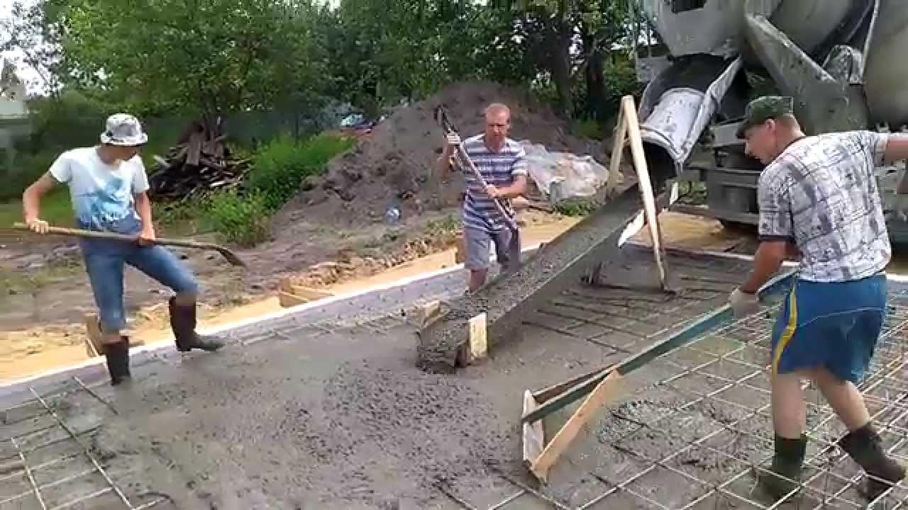 Растаскивание бетона цементный раствор молоко