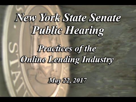 Joint Legislative Public Hearing: Practices of the Online Lending Industry - 05/22/17