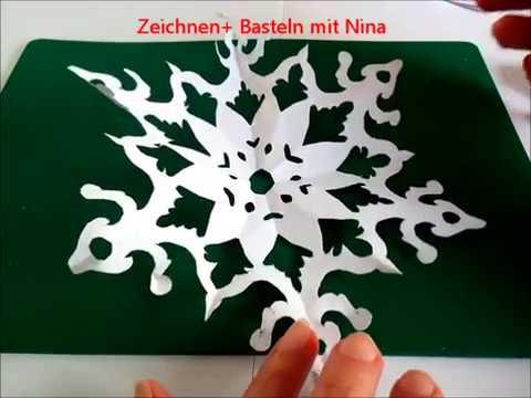 Schneeflocken, Schneesterne oder Schneekristalle aus Papier basteln. Ideen für den Winter from YouTube · Duration:  3 minutes