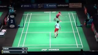 Saina Nehwal vs Cheah Lyddia Yi Yu | R1 Australian Badminton Open 2015