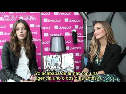 Emily DiDonato & Hannah Davis interviewed for Liverpool México: Fashion Fest (March 2nd)