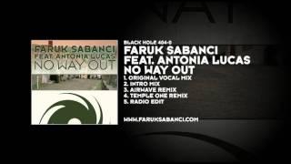 Faruk Sabanci featuring Antonia Lucas - No Way Out