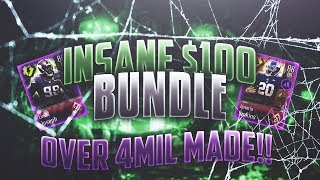 *INSANE* 100$ BUNDLE! OVER 4 MILLION COINS MADE! Madden Overdrive Most Feared Bundle Opening