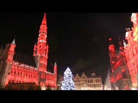 The sound & light show at Grand-Place in Brussels, Belgium (2015)