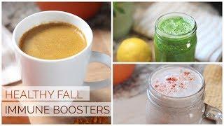 3 HEALTHY FALL DRINKS | Immune Boosting & Anti-Inflammatory