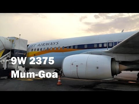 Jet Airways Economy 737-800| Hard Landing | Mumbai-Goa