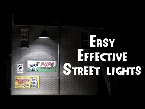 Working Street Lights – HO scale