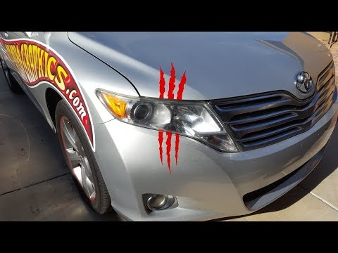 Monster Claw Decal Sticker Install