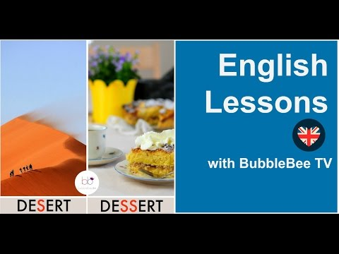 Learn English - Pronunciation and meaning of DESERT  vs DESSERT  | English Lessons