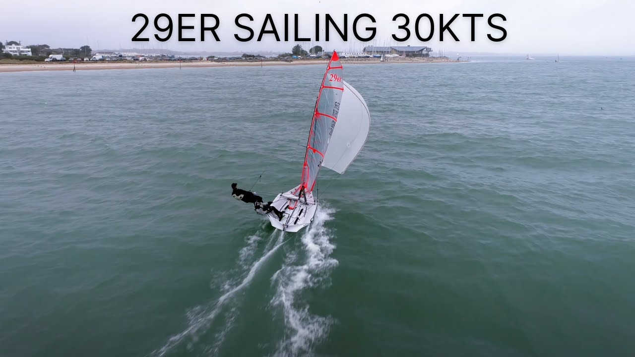 Drone Footage of 29er Dinghy Sailing | Hayling Island Sailing Club