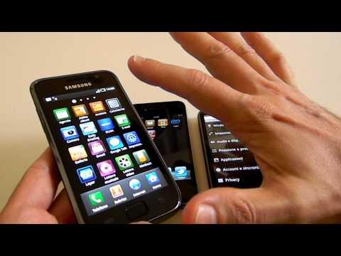 Nexus One vs iPhone 4 vs Galaxy S CellulareMagazine.It Eng