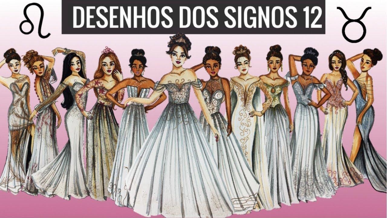 Desenhando O Vestido De Noiva De Cada Signo