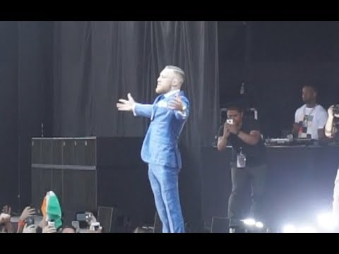 Conor McGregor's entrance to the Budweiser Stage in Toronto