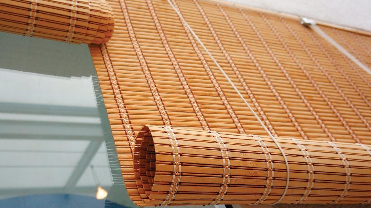 Manual Bamboo Blinds - YouTube for Bamboo Curtains Kerala  111bof